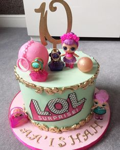 Is this a new craze?! A lol surprise cake! Happy 10th to Aa'ishah #cake #lolsurprisecake #pieceofcakebyhalima