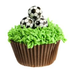 Soccer wedding theme cupcakes