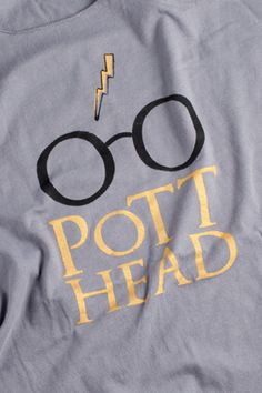 Harry Potter T Shirt   Pott Head Screenprint  The Perfect by NODog, $28.00. Need this for me and my BFF