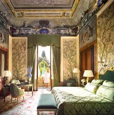 """Four Seasons Hotel in Florence. The Palazzo della Gherardesca was first built in 1473, by Bartolomeo Scala, Chancellor of the Florentine Republic under Lorenzo Medici """"Il Magnifico."""" Over five centuries it belonged to noblemen, princes and popes. It was acquired by the Fingen Group in 2000, restored to Renaissance splendor, & reopened as The Four Seasons Hotel in 2008. """"No two of the 116 rooms are alike. Full of restored antiques & paintings - and offer all the modern amenities. [3rd of 4…"""