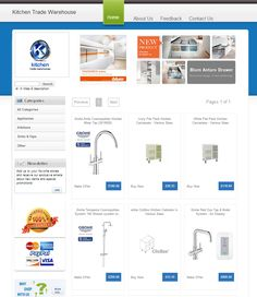 Our eBay Store Designer template in Kitchen Trade Warehouse eBay store!
