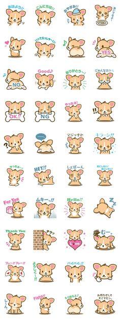 Kawaii corgi (Or korgi,if she was a Kardashian) Art Kawaii, Kawaii Doodles, Kawaii Chibi, Cute Doodles, Anime Chibi, Kawaii Anime, Chibi Dog, Kawaii Stickers, Cute Stickers