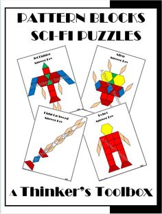 Just in time for the new Star Wars Movie release! Pattern Blocks Sci-Fi Puzzles by A Thinker's Toolbox.  Included are 4 Science Fiction puzzles; a light up sword, a jet fighter, a robot, and an alien.