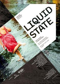 Poster: Liquid State by Richard Wolfstrome, via Behance