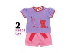 'Isabelle Rose Teddy' T-shirt and Shorts