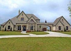Plan W36337TX: Stately Manor Home Plan