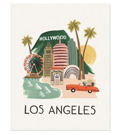 Los Angeles Print by @Anna Bond #LAeveryday