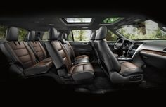 2012 Ford Explorer Interior.. LOVE the 2 tone leather! Now this is bad A!!