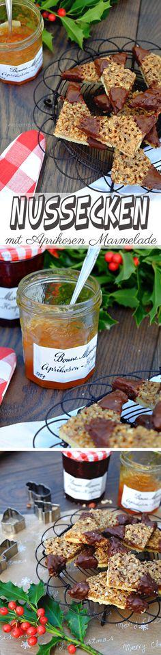 Selbst gemachte Nussecken mit Aprikosen Marmelade | waseigenes.com