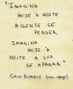 CHICO BUARQUE, Imagina