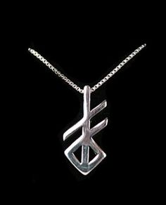 Sterling Rune Pendant - Creation