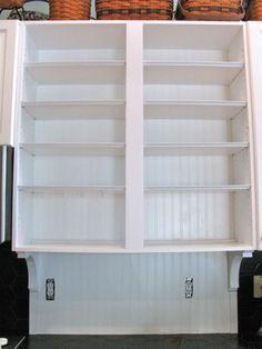 MAY DAYS: Adding Beadboard (Wallpaper) to Cabinets and Backsplash