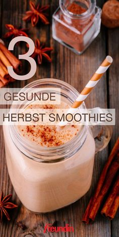 Das Herbstobst kann hervorragend zu leckeren und gesunden Smoothies verarbeitet … The autumn fruit can be perfectly processed into delicious Fruit Smoothies, Smoothies Detox, Fruit Snacks, Healthy Smoothies, Healthy Drinks, Healthy Snacks, Winter Smoothies, Simple Smoothies, Healthy Juices