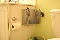 Bathroom appliance storage