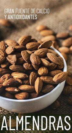 Favorecen el rendimiento intelectual y cerebro y una alternativa a los lácteos Almond, Natural, Food, Almonds, Vegetables, Obese Women, Mood Swings, Nature, Meals