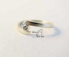 Verlobungsring Silber Zirkonia