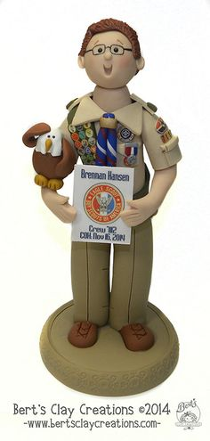 Custom Eagle Scout Cake Topper  DEPOSIT - Please do not place deposit until you contact me first and attach a photo of the scout