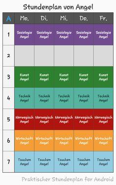 Angels Stundenplan (Überarbeitet)