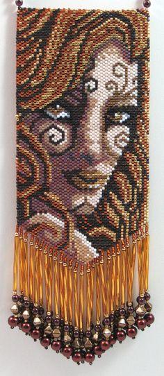 Gaia Female Earth Elemental Beaded Amulet Bag Necklace by LazyRose