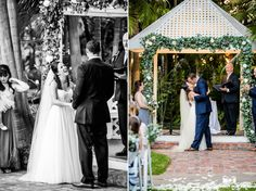 Bride and Groom share first kiss during wedding ceremony #weddingphotography / just added
