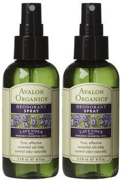 Avalon Organics Deodorant Spray with Essential Oils, Lavender 4 oz