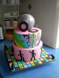 Cakes Cupcakes Mackay by Sugar Siren Disco Birthday Party, 70th Birthday Parties, Themed Birthday Cakes, Themed Cakes, Themed Parties, Party Party, Party Time, Birthday Ideas, Pretty Cakes
