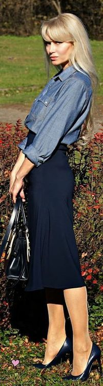 chambray dressed up…9to5 style