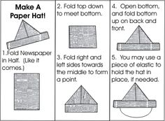 make a paper hat swap print directions with a mini paper hat in a mini
