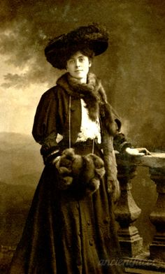 This was taken during a time when fur was considered acceptable fashion. Photo of Amy Bertha Ernestine Sparrow in 1906. Original: http://www.ancientfaces.com/photo/amy-bertha-ernestine-pepper-staveley-sparrow/1280584