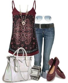 Love this, even the ballet flats, (I can no longer wear heels with Fibro). Cool, hippy look for summer.