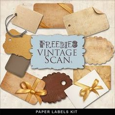 Cool collection vintage paper, craft, vintage labels, printable labels, clip art, paper tags, gift tags, scrapbook, vintage collections