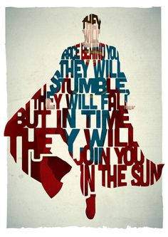 Superman by Pete Ware mini poster print  https://itunes.apple.com/us/app/man-of-steel/id640360377?mt=8uo=4at=10laCC