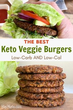 The BEST Keto Veggie Burger—Low in Carbs
