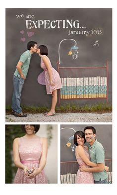Annuncio di gravidanza creativo www.arrivalacicogna.com