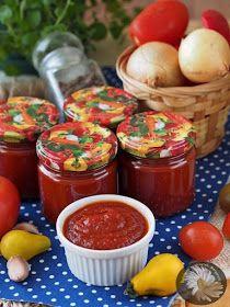 """Kulinarne Szaleństwa Margarytki: Z serii """"coś na zimę"""": Domowy ketchup (keczup) – wersja pikantna"""