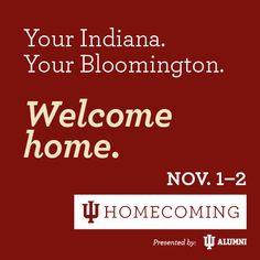 Homecoming begins today at Indiana University! This year's festivities also include the return of the Homecoming parade on a new route down Kirkwood Avenue and more than 20 other activities for IU students and alumni! #IUHomecoming