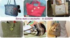 Riciclare i vecchi ombrelli: come fare una shopping bag - Tutorial Origami, Lunch Box, Bags, Shopping, Feltro, Handbag Patterns, Dressmaking, Handkerchief Dress, Handbags