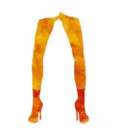 Legs of a fashion model. Fashion illustration. Click for art prints.