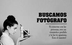 Buscamos fotógrafo para participar en diversos proyectos Memes, Creative, Amor, Shapes, Couples, Blue Prints, Meme