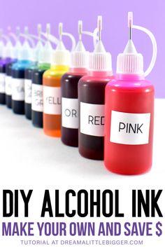Diy Resin Projects, Diy Resin Art, Diy Resin Crafts, Diy Crafts Hacks, Diy Arts And Crafts, Crafts To Make, Sharpie Crafts, Glitter Crafts, Sharpie Art