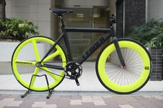 LEADER BIKE 735TR Wild chartreuse Customized | BROTURES ONLINE | Fixed Gear shop BROTURES online store