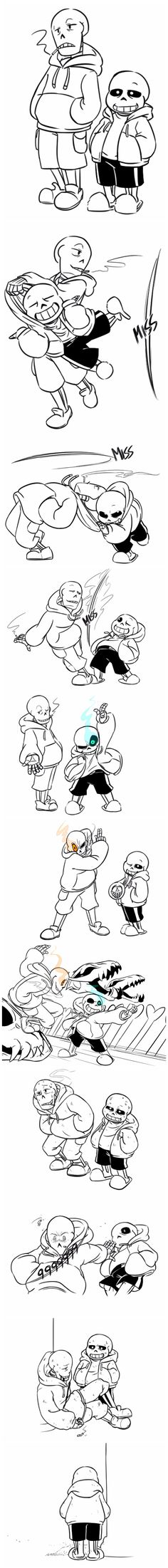 Papyrus and Sans - Underswap AU - comic