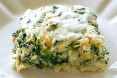 Arroz al horno con espinacas y queso parmesano