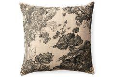 Garden 18x18 Pillow, Beige on OneKingsLane.com