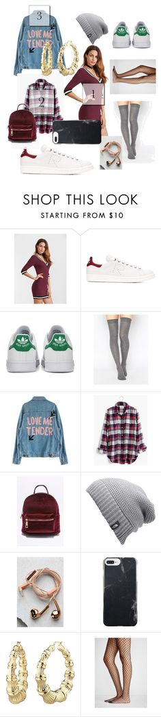 """""""college"""" by carriebradshaw-ii on Polyvore featuring adidas, adidas Originals, ASOS, Madewell, The North Face, Happy Plugs and Free People"""