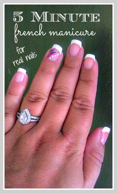 Great looking french manicure at a fraction of the cost french tip 5 minute french manicure sally hansen solutioingenieria Gallery