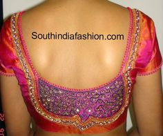 Bridal Saree Blouse ~ Celebrity Sarees, Designer Sarees, Bridal Sarees, Latest Blouse Designs 2014
