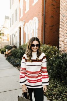 Stripe holiday sweat