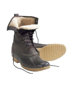 """Winter Slushy boots - Snuggly -Women's Bean Boots by L.L. Bean 10"""" Shearling-Lined Boasting a rubber-tread bottom, waterproof leather, and Thinsulate insulation, the all-time classic is upgraded with cozy shearling lining. Come snow or high water, these boots will have you covered."""