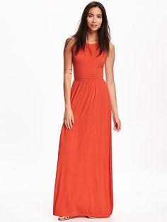 Sleeveless Jersey Maxi Dress for Women
